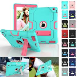 Shockproof Hybrid Heavy Duty Armor Stand Case Cover For iPad