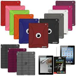 AMZER Silicone Jelly Skin Cover For Apple iPad 2 3 4 New Ret