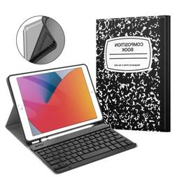Slim PU Leather Case Cover With Bluetooth Keyboard For Apple