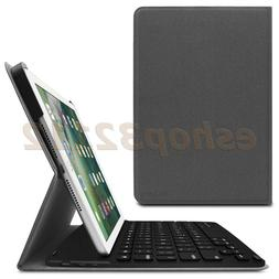 Smart Cover Case with Bluetooth Keyboard for Apple iPad 9.7